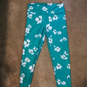Floral Teal Fabletics Leggings High Waisted